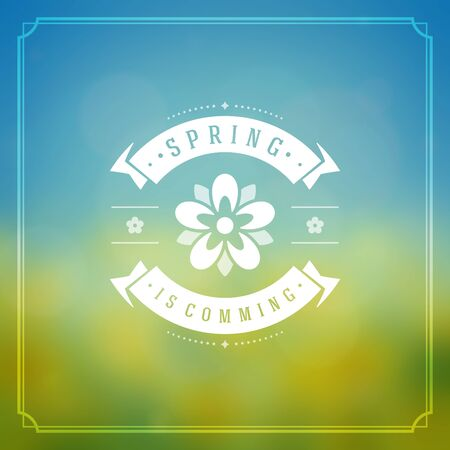 Spring Vector Typographic Greeting Card or Poster Design.