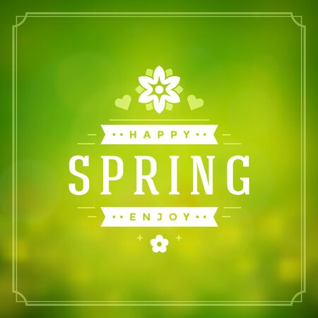 classic classical: Spring Vector Typographic Greeting Card or Poster Design.