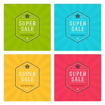 discount banner: Sale Banners or Labels Vector Design Set. Collection for Promotional Brochure or booklet, Discount Poster, Shopping flyer, Clearance advertising.