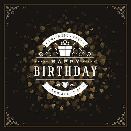 decoration elements: Vintage typographic template with wish message and decoration elements