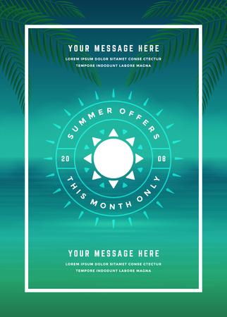 shop sign: Summer Sale banner online shopping on beach background