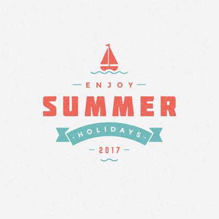 Summer holidays poster design on textured background vector illustration. Illustration