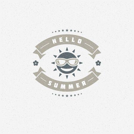 holiday party: Summer holidays poster design on textured background vector illustration. Illustration