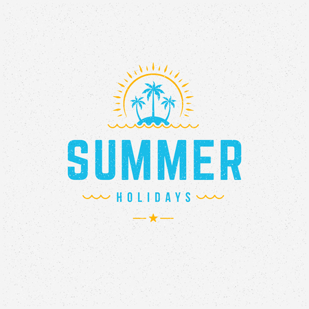 greeting season: Summer holidays poster design on textured background vector illustration. Illustration