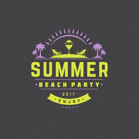 palm: Summer holidays poster design on textured background vector illustration. Illustration