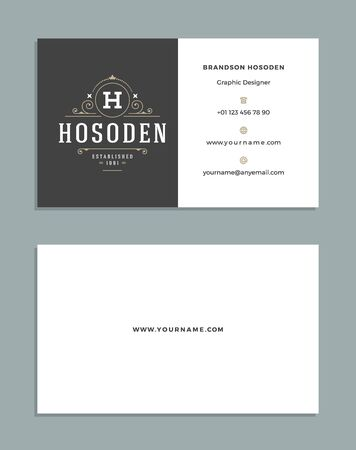 brand identity: Vintage Ornament Business Card Vector Template. Illustration