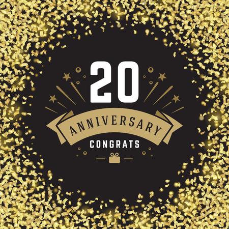 celebration background: Happy Birthday Greeting Card Design Vector Template. Illustration