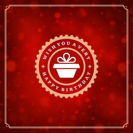 Happy Birthday Greeting Card Design Vector Template. Illustration