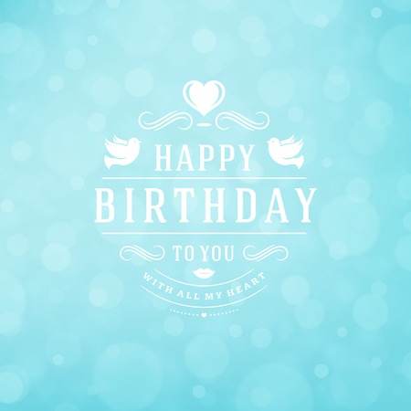 celebration party: Happy Birthday Greeting Card Design Vector Template. Illustration