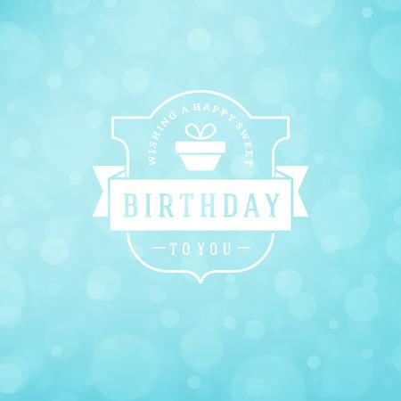 logo: Happy Birthday Greeting Card Design Vector Template. Illustration