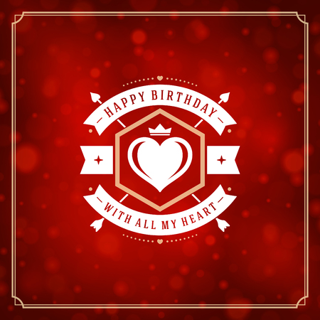 contemporary: Happy Birthday Greeting Card Design Vector Template. Illustration