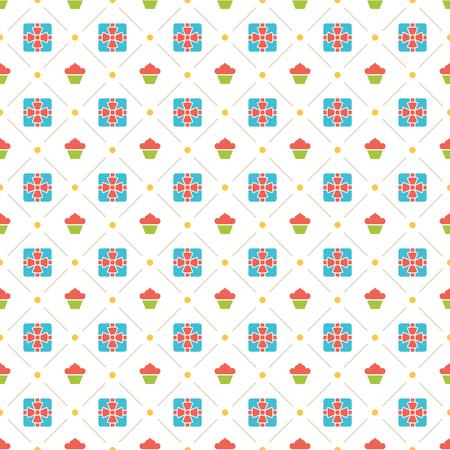 stars: Happy Birthday Seamless Pattern Vector Design for birthday background