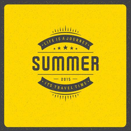 voyage: Summer holidays poster design on textured background vector illustration. Illustration