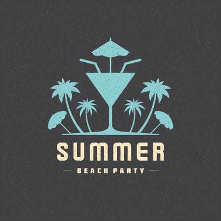 Summer holidays poster design on textured background vector illustration.