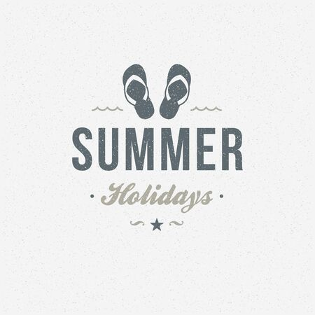 island: Summer holidays poster design on textured background vector illustration. Illustration