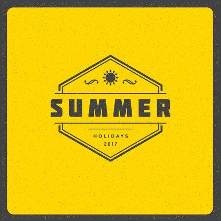 advertise: Summer holidays design illustration. Illustration