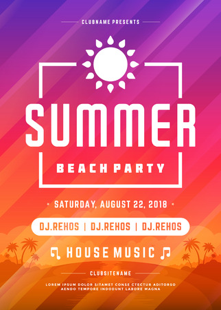 texture: Retro summer party design poster or flyer on abstract background.