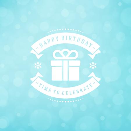 Happy birthday greeting card design vector illustration.