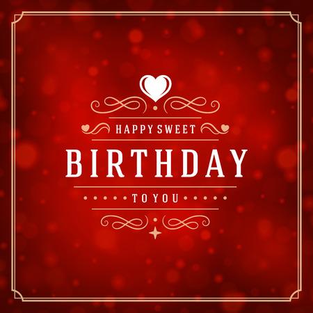happy: Happy birthday greeting card design vector illustration.