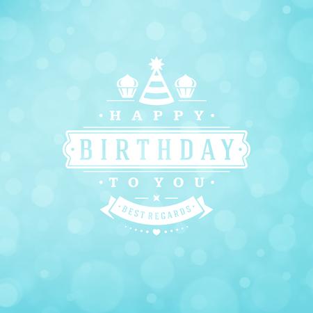 birthday party: Happy birthday greeting card design vector illustration.