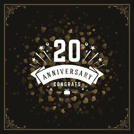 celebration background: Happy birthday greeting card design vector illustration.
