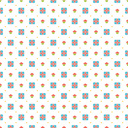 decoration: Happy Birthday Seamless Pattern Vector Design for birthday background