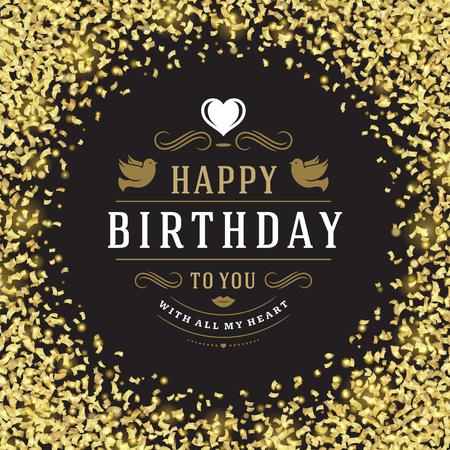 celebration party: Happy birthday greeting card design vector illustration.