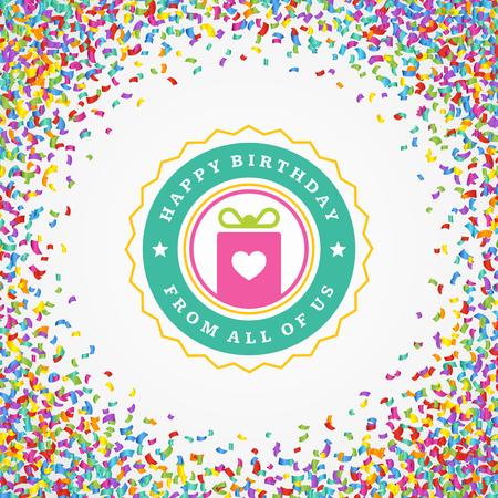celebration background: Happy Birthday typographic for greeting card design vector illustration. Illustration