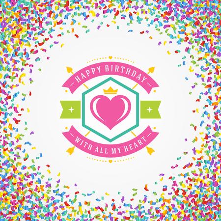 celebration party: Happy Birthday typographic for greeting card design vector illustration. Illustration