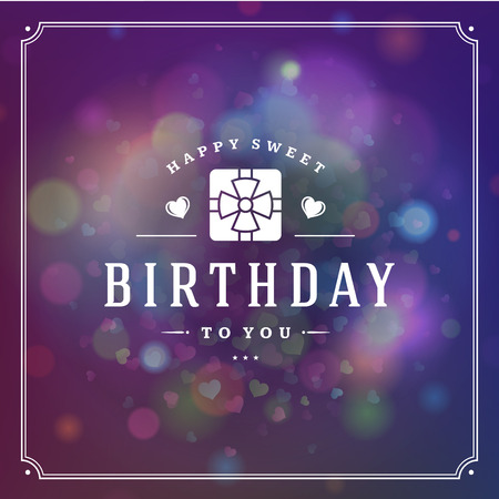 modern: Happy Birthday typographic for greeting card design vector illustration. Illustration