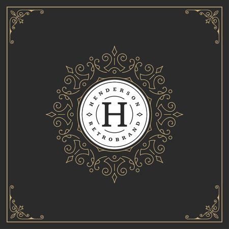 decoration: Ornament logo design template vector flourishes calligraphic decorations elegant