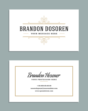 Business card vintage ornament style and luxury logo vector template 82741549 business card vintage ornament style and luxury logo vector template reheart Images