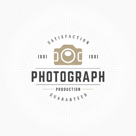brand identity: Photographer Design Element in Vintage Style for Logotype