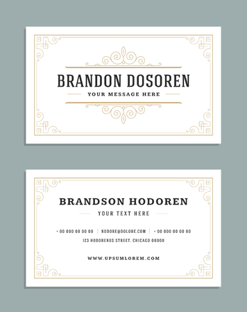 Business card vintage ornament style and luxury logo vector template banco de imagens business card vintage ornament style and luxury logo vector template reheart Images