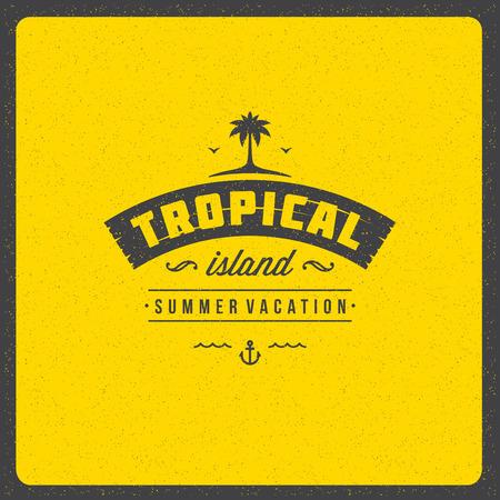 textured: Summer holidays poster design on textured background vector illustration. Illustration