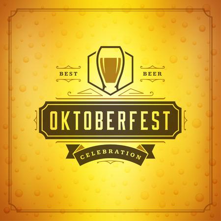 celebration party: Oktoberfest beer festival celebration vintage greeting card