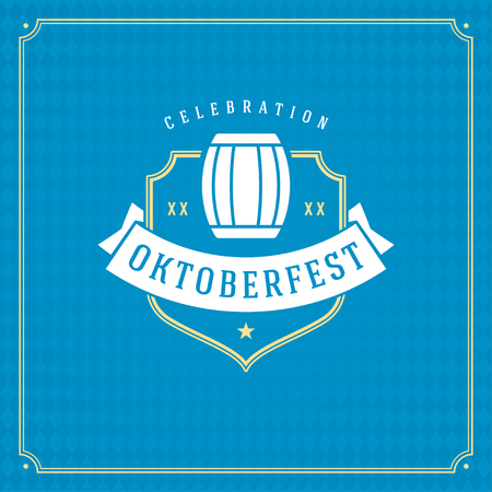 bar: Oktoberfest beer festival celebration vintage greeting card