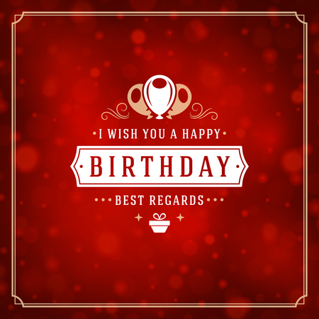 frame: Happy birthday greeting card design vector illustration.