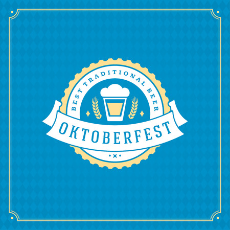 Oktoberfest beer festival celebration vintage greeting card