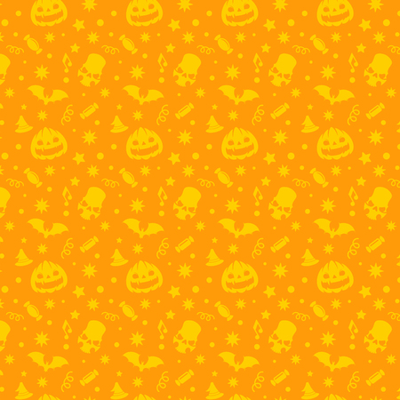 Halloween seamless pattern vector design for background