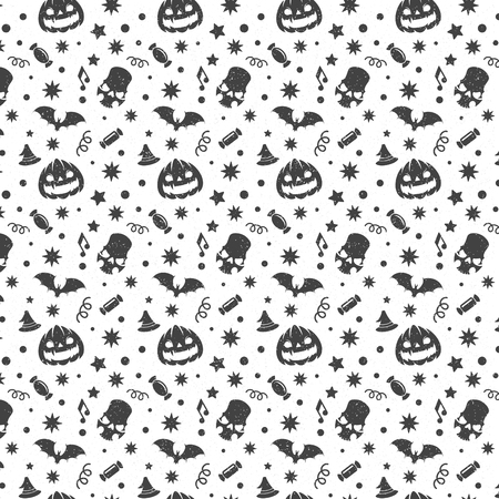 digital background: Halloween seamless pattern vector design for background