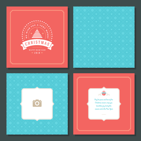 layout: Christmas greeting card vector design and pattern background
