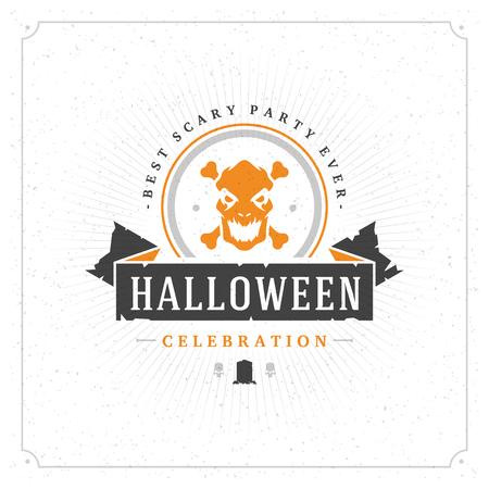Halloween celebration vector illustration on textured background. Illustration