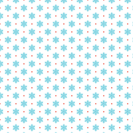 Christmas pattern vector design for background, wrapping paper, greeting card. Snowflakes icons.