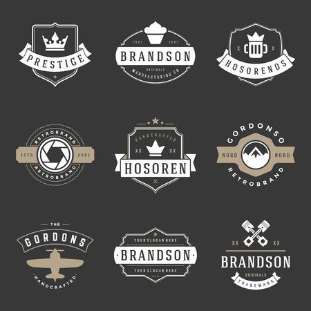 Vintage icon Design Templates Set. Иллюстрация