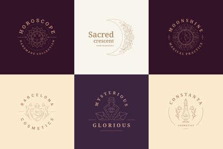 Esoteric emblems design templates set