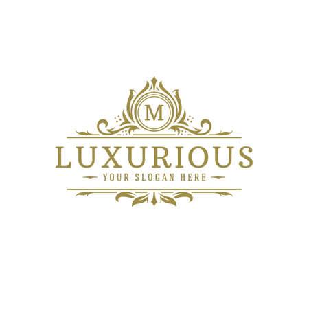 Luxury logo crest template design vector illustration. 矢量图像