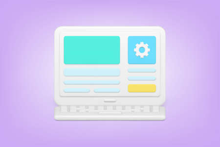 Minimalistic website optimization 3d icon vector illustration