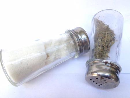 flipped: Salt and pepper bottles
