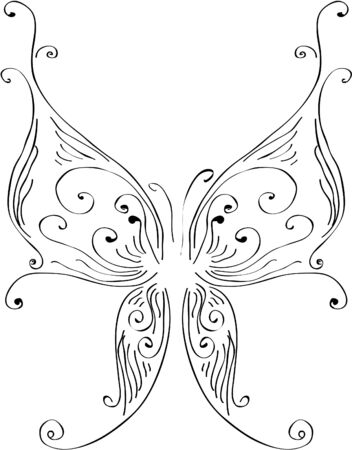 Butterfly executed in the style of lines Stock Vector - 9613063